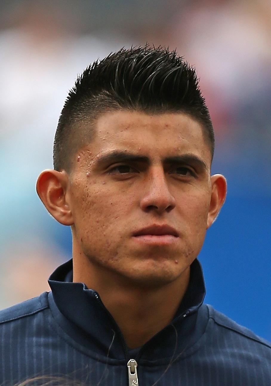 28.jul.2013 - Joe Corona, dos EUA, fica perfilado antes da partida contra o Panamá pela Copa Ouro