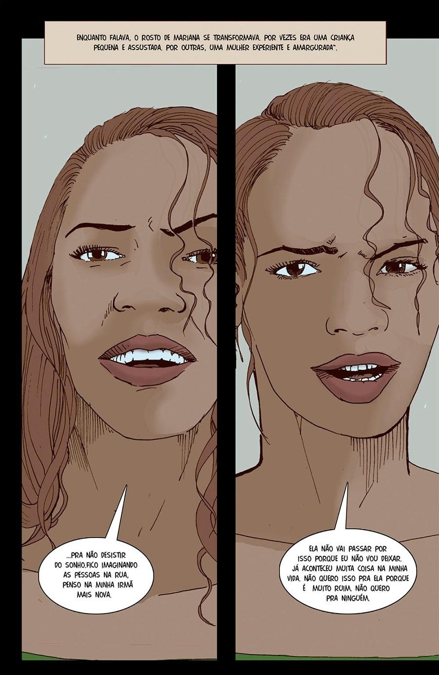 Capítulo 2: Mariana às vezes parecia uma menina assustada, às vezes uma mulher amargurada.