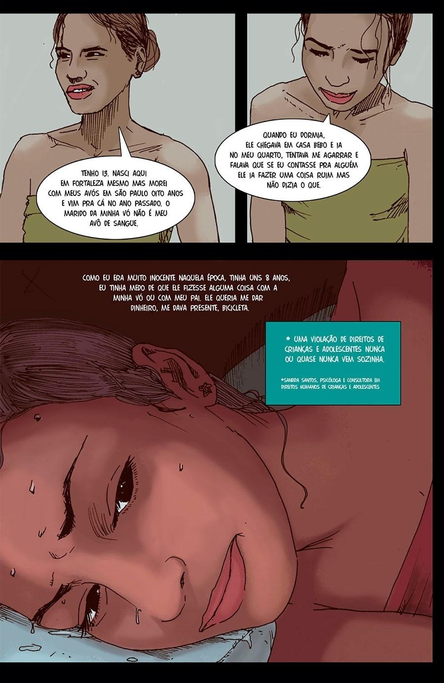 Capítulo 2: Ela relatou que aos 8 anos já sofria abusos sexuais do namorado da avó.