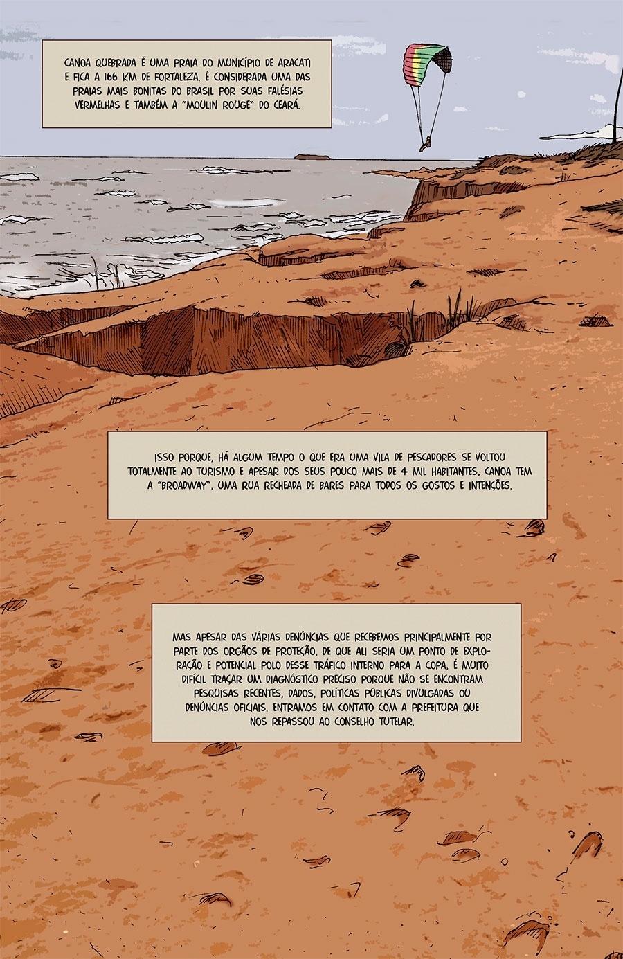 Capítulo 5: Canoa Quebrada é um dos principais destinos turísticos do Ceará, mas não tem dados sobre exploração sexual.