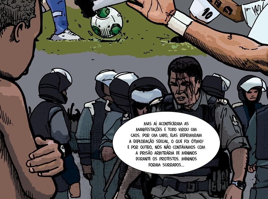 Prólogo: Nas manifestações, a exploração sexual foi coibida, mas, em compensação, adolescentes foram presos arbitrariamente, segundo Mônica