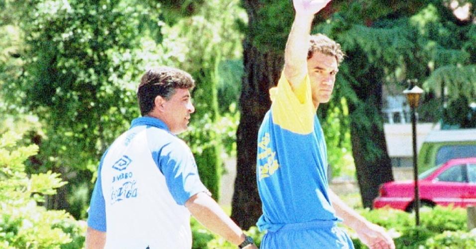 Ricardo Gomes foi cortado já nos Estados Unidos, no último jogo preparatório. Ele não gosta nem de falar sobre o assunto quando perguntado