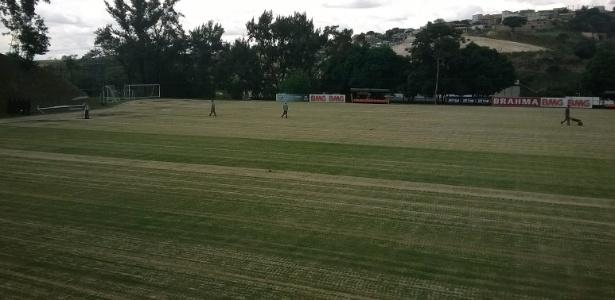 Um dos campos da Cidade do Galo já passa por reforma para receber a seleção da Argentina