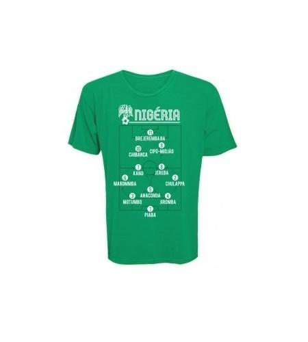 A Nigéria também ganhou uma camiseta personalizada na loja do Kibe Loco
