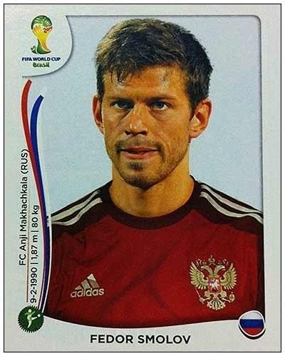 Fedor Smolov foi o único erro da Rússia no álbum, também por opção do técnico