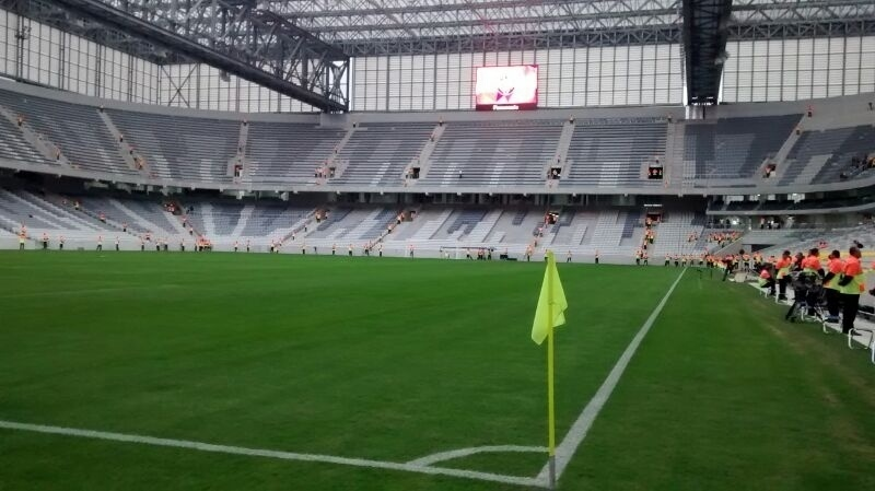 Interior da Arena da Baixada pronta para receber Corinthians x Atlético-PR