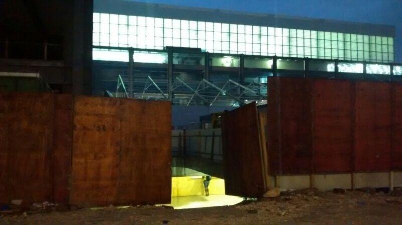 Setor de imprensa para o jogo teste foi improvisado na Arena da Baixada