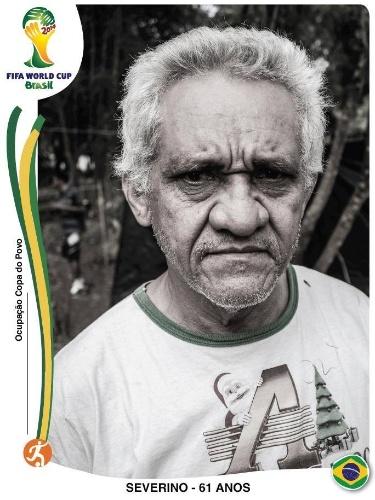"""""""Figurinhas da Copa"""" mostram sem-tetos de ocupação perto do Itaquerão"""
