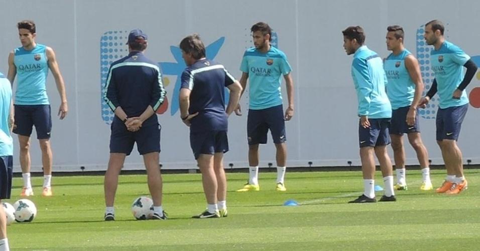 Neymar fez apenas dois treinamentos com bola na semana antes de ser relacionado para a final do Espanhol
