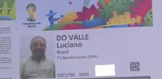 Credencial de Luciano do Valle foi emitida como forma de homenagem ao locutor, morto em abril