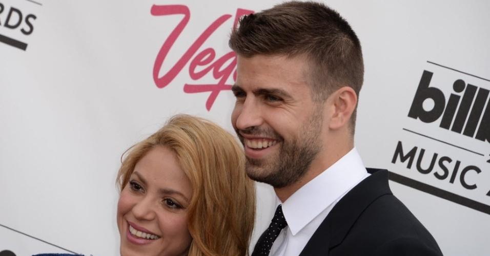 18.mai.2014 - Shakira e Piqué durante o Billboard Awards, em Las Vegas