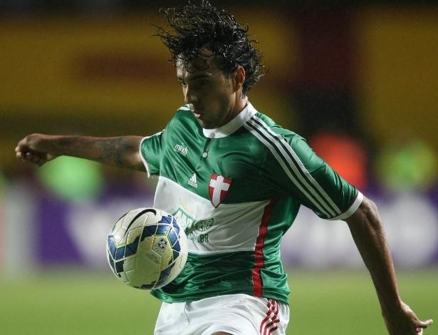 Diogo, atacante do Palmeiras, foi bem no jogo contra o Vitória