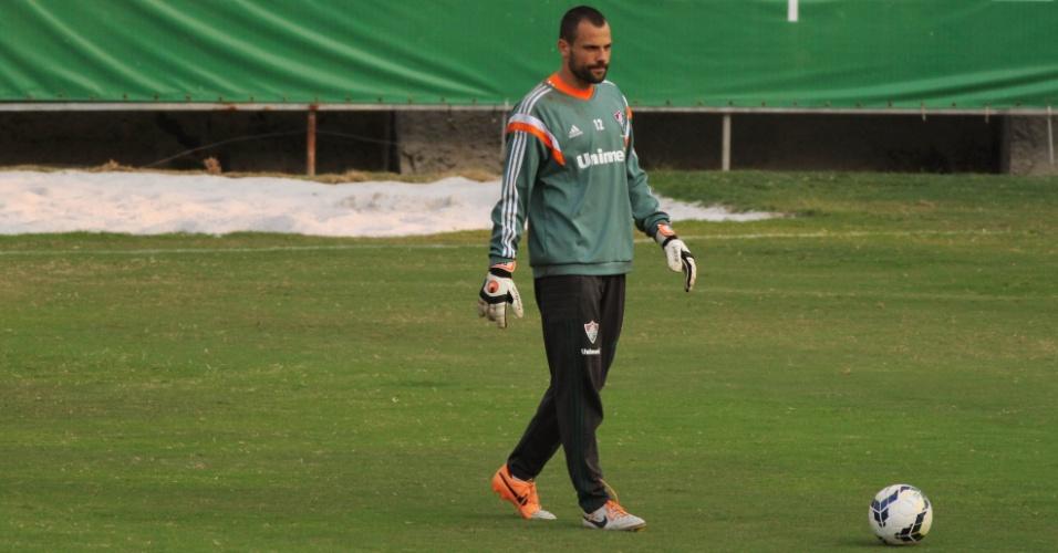 20 mai. 2014 - Diego Cavalieri participa de treinamento do Fluminense nas Laranjeiras