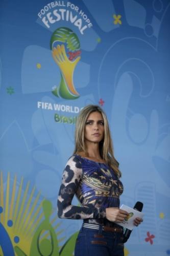 20. mai. 2014 - Fernanda Lima durante evento de lançamento do projeto social Football for Hope