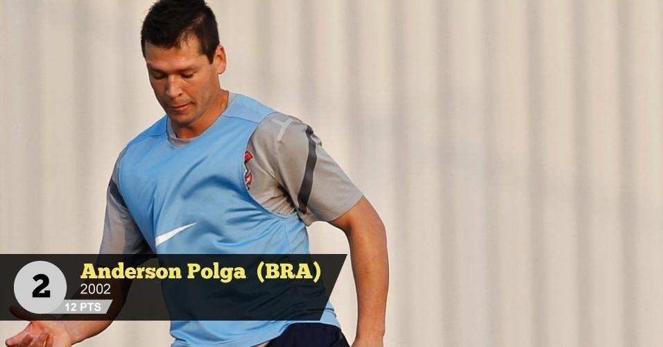 Anderson Polga (Brasil, 2002) - 12 pontos: 'Ser da confiança de Felipão é a única explicação para ele figurar entre os pentacampeões de 2002', diz Perrone