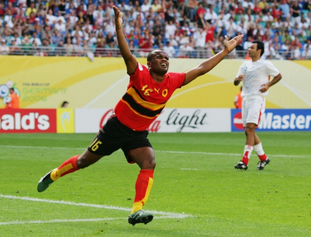 Angola só fez um gol em Copas, em 2006. E o autor do feito foi Flávio, no empate por 1 a 1 com o Irã, garantindo sua idolatria no país africano