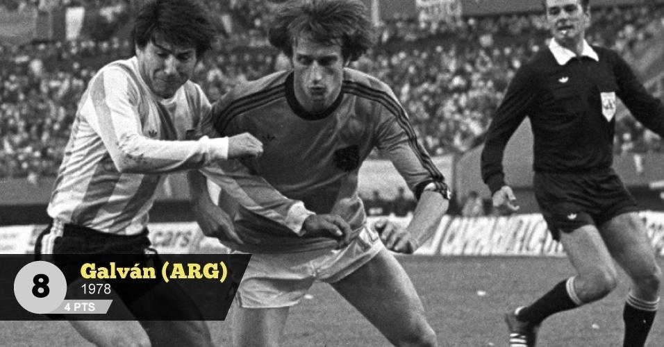Galván (Argentina, 1978) - 4 pontos: 'Um dos mais violentos da seleção argentina campeã em 1978', analisa Perrone