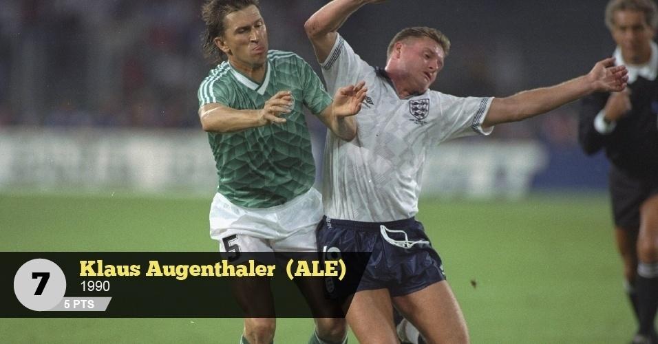 Klaus Augenthaler (Alemanha, 1990) - 5 pontos: 'Tecnicamente era sofrível. Batia até na mãe se deixasse', lembra Neto