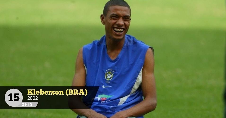 Kleberson (Brasil, 2002) - 2 pontos: 'Depois do Mundial, nunca mais fez uma boa temporada', diz Birner