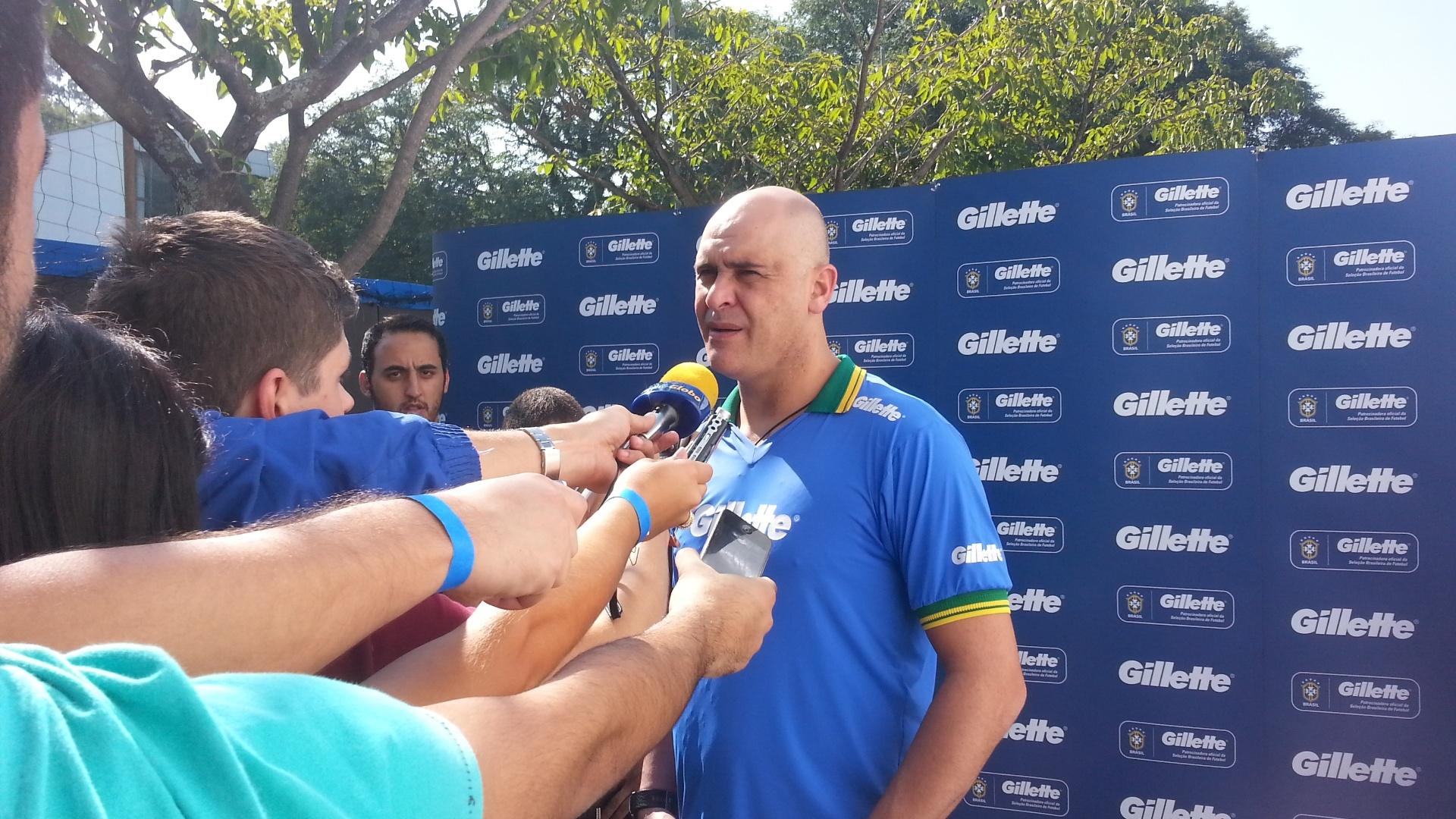 Marcos participa de evento da Gillette sobre a Copa do Mundo