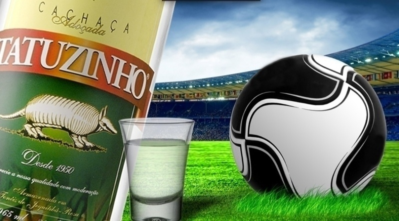 Chacaça Tatuzinho em campanha para a Copa