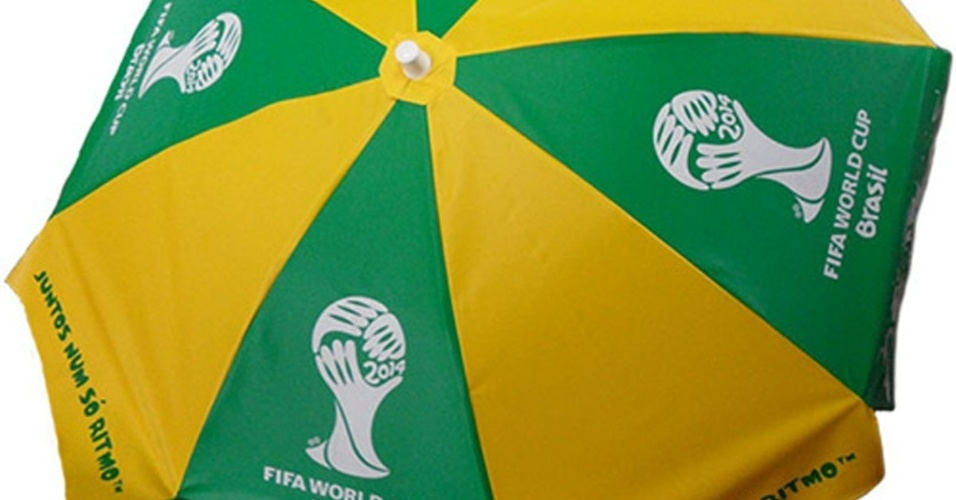 Guarda sol da Copa do Mundo vendido no site da Fifa