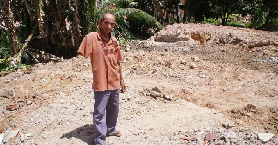 Jerônimo Sebastião de Oliveira foi um dos afetados pela desapropriação dos terrenos na Cidade da Copa, em Pernambuco