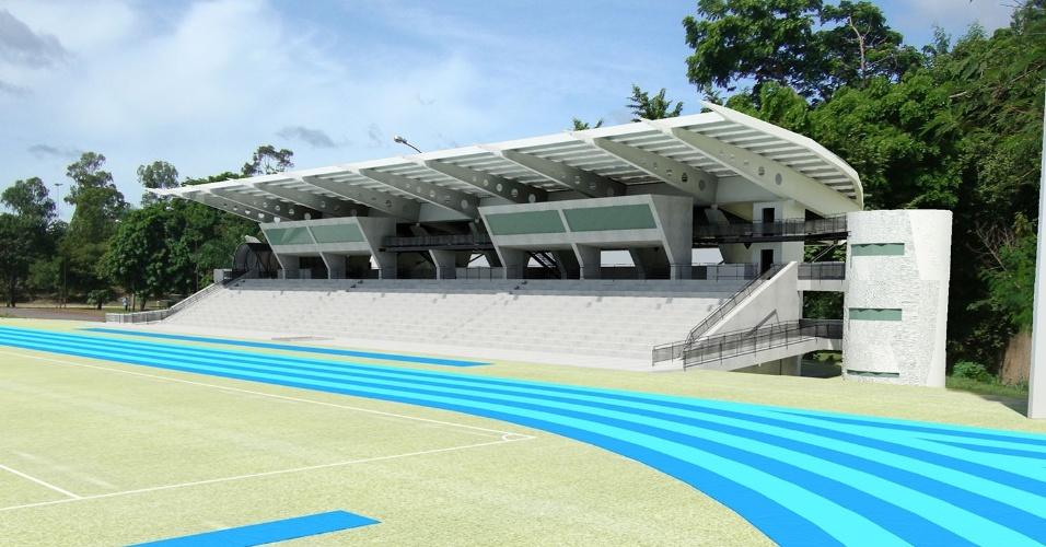Projeto do COT (Centro Oficial de Treinamento) da UFMT, em Cuiabá. Arena custará R$ 15,8 milhões ao Estado de Mato Grosso