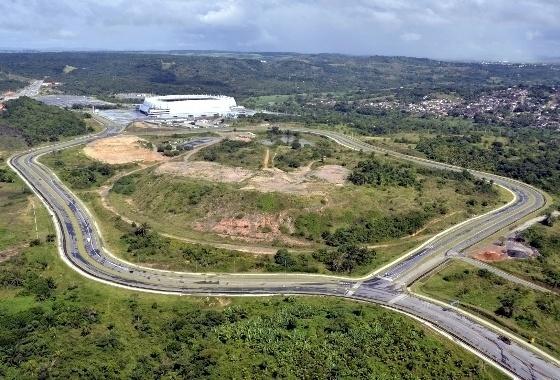 Terrenos no entorno da Arena Pernambuco, uma das sedes da Copa do Mundo de 2014
