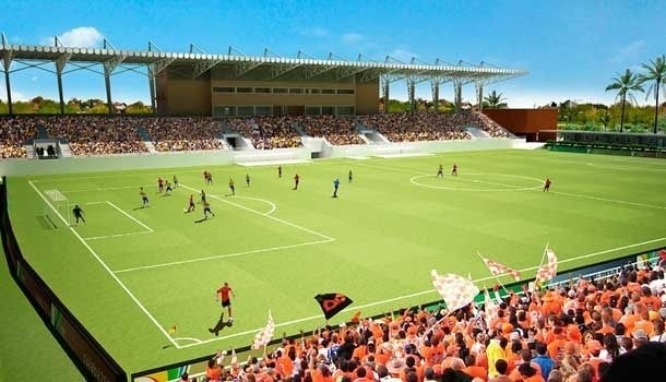 Vista de como deverá ficar o COT do Pari depois de pronto; capacidade para 3.500 torcedores