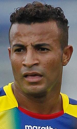 29.mai.2013 - Pedro Quiñónez, do Equador, observa jogada durante o amistoso contra a Alemanha na Flórida