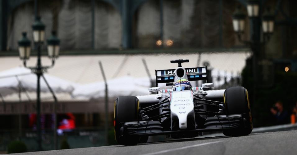 Felipe Massa conduz sua Williams durante treino livre em Mônaco