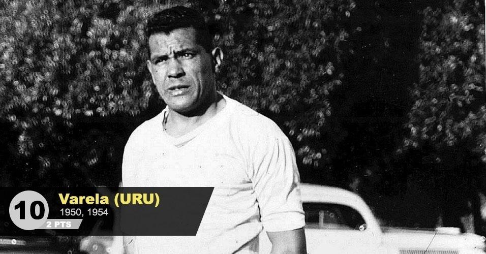 """10º lugar - Varela: """"Comandou o Uruguai na histórica final de 1950. Disputou ainda o Mundial de 54. Com ele em campo, o Uruguai nunca perdeu em Copas"""", diz Menon"""