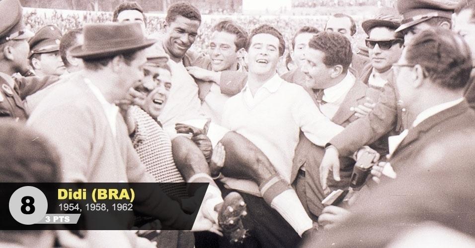 "8º lugar - Didi: ""O maestro brasileiro na Copa de 1958, digno em 1962"", analisa Juca"