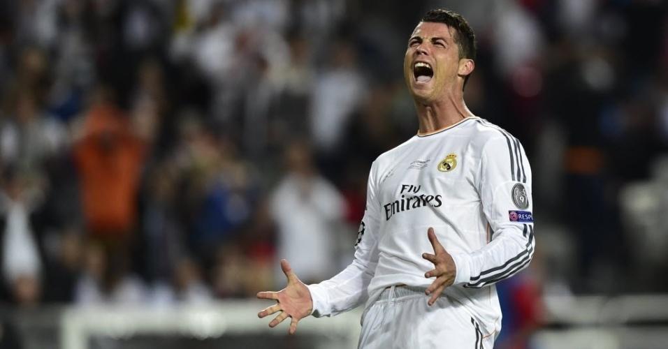 24.mai.2014 - Cristiano Ronaldo grita durante partida pela final da Liga dos Campeões