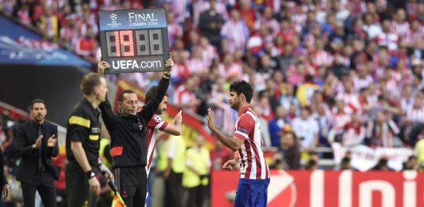 Diego Costa em ação pelo Atlético em 2014. jogador vai voltar ao clube