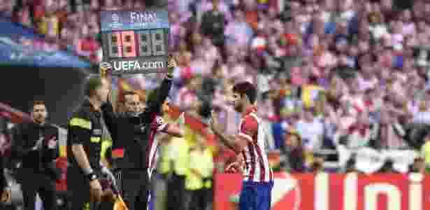 Diego Costa em ação pelo Atlético em 2014. jogador vai voltar ao clube - Franck Fife/AFP