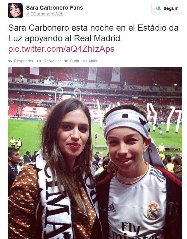 Sara Carbonero vai a Lisboa ver a final da Liga dos Campeões