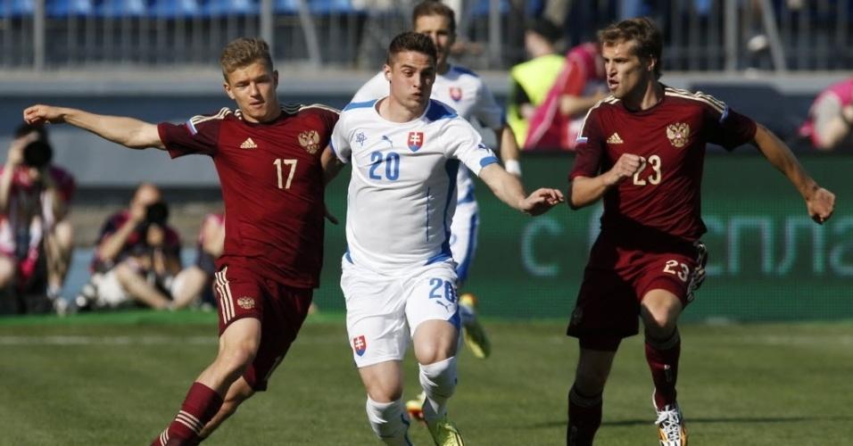 26.mai.2014 - Rússia se dá bem em amistoso de preparação para a Copa e vence a Eslováquia por 1 a 0