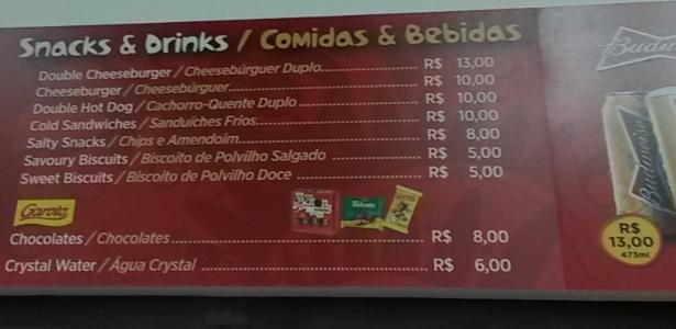 Bares do Maracanã já receberam tabela de preços da Copa do Mundo de 2014