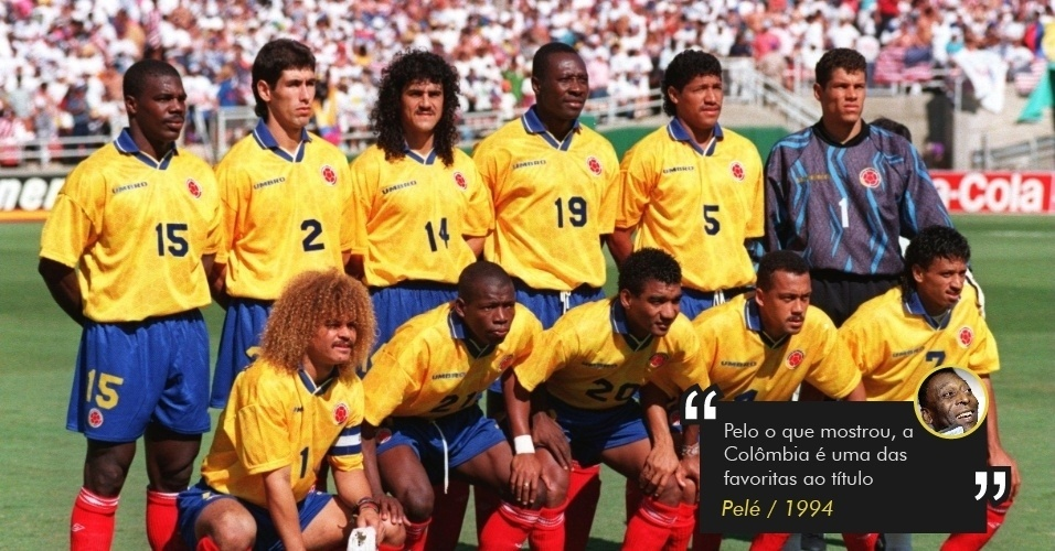 Pelé aponta Colômbia favorita em 1998
