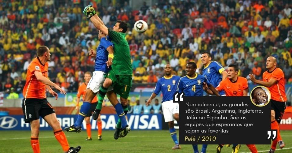 Pelé colocou Brasil entre os favoritos ao título da Copa de 2010