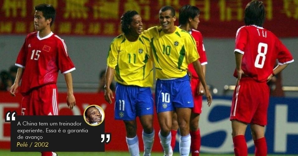 Pelé diz que China passaria à 2ª fase na Copa de 2002