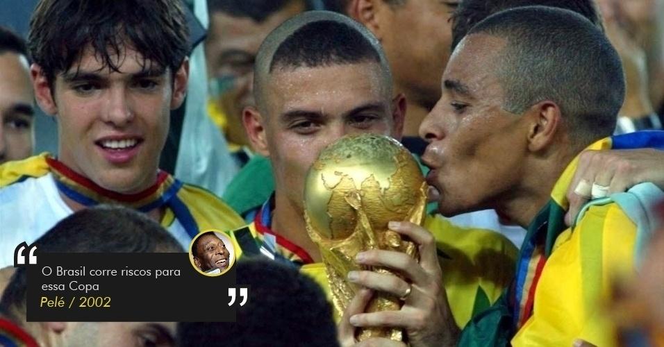 Pelé temia eliminação do Brasil logo na 1ª fase em 2002