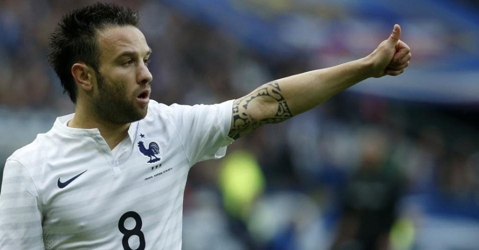 27.mai.2014 - Valbuena teve boa atuação pela França no amistoso contra a Noruega