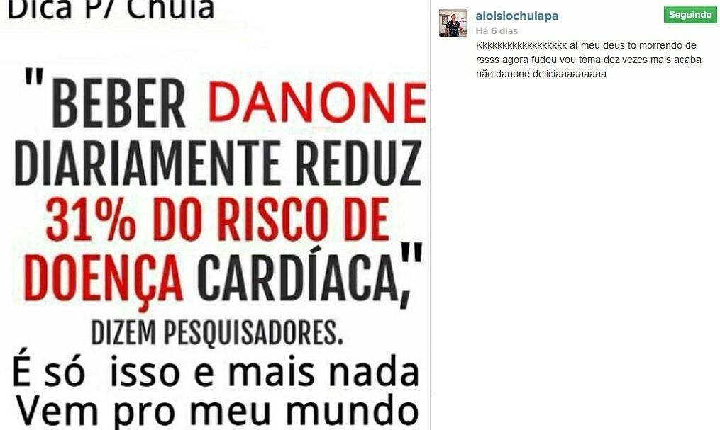 Aloísio Chulapa e seus danones no Instagram