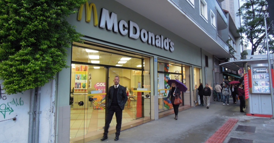 McDonald's na rota dos protestos, na avenida Faria Lima