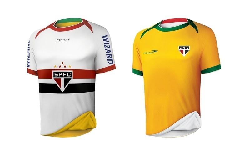 49e893554e São Paulo segue embalo de rivais e lança camisa comemorativa amarela -  27 05 2014 - UOL Esporte