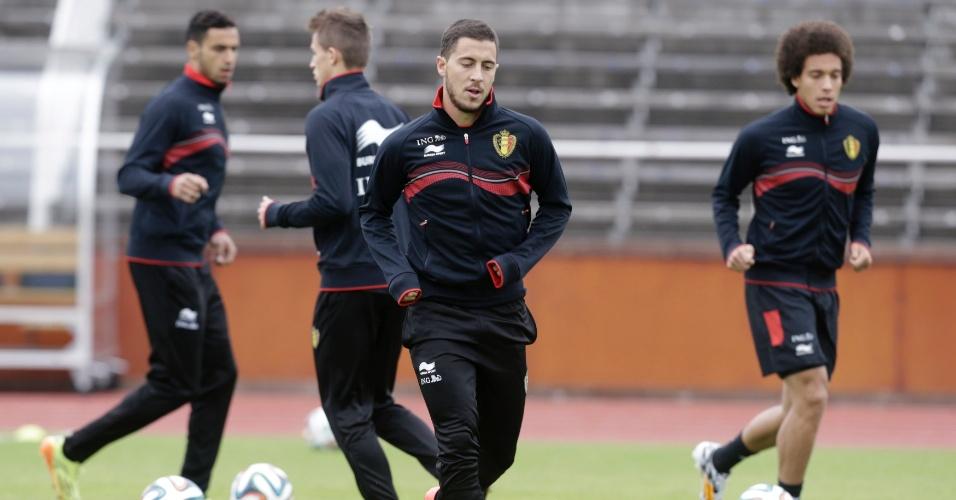 Eden Hazard, nos treinos da seleção Belga