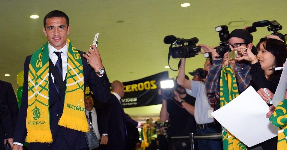 Embarque da Seleção da Austrália para o Brasil